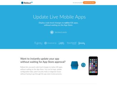 Rollout website design website web ux ui software program layout landing design ios app