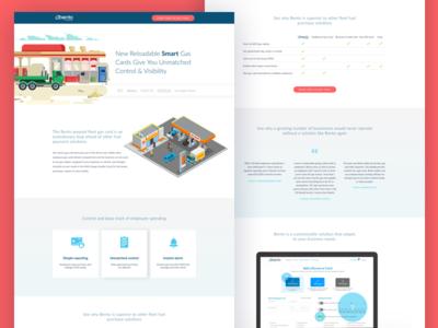 Bento for Business - Gas Card Landing Page website web ux ui software layout landing ios design card app