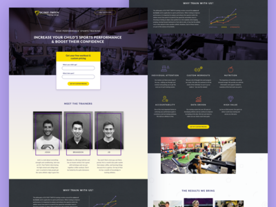 OC Fast Twitch Landing Page website web ux ui layout health gym fitness design