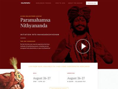 Inner Awakening Landing Page motivational clean red webinar conference speaker web ux ui layout design