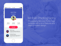 Mobile Photography Profile Page