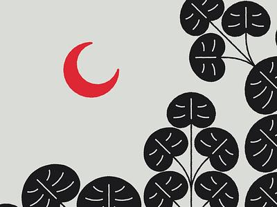 RioCedro Nights brushes beach nature illustration moon