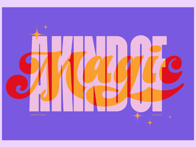 A kind of Magic music typography type design lettering magic queen