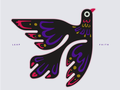 Leap of faith! design art tribal digital