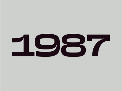 1987 ☀️ numbers design type typography type design