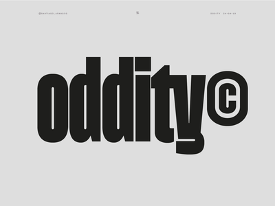 Oddity© sans heavy dense grotesque design type typography