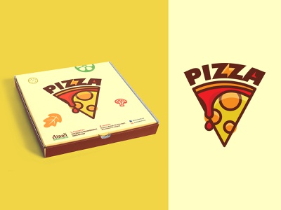 Pizza Box Illustration Packaging Design box package box design pizza box pizza hut pizza illustrator illustration branding