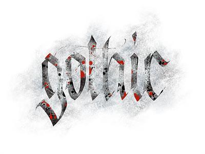 dribbble gothic typography typografia script powerscripts litery liternictwo lettering kaligrafia handwritten handwriting freehand calligraphy
