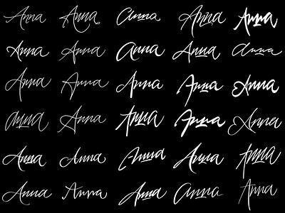 Anna typography typografia script powerscripts litery liternictwo lettering kaligrafia handwritten handwriting freehand calligraphy