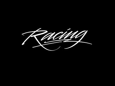 Racing typography logotype logo script powerscripts handtype lettering kaligrafia handwritten handwriting freehand calligraphy