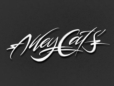Alley Cats typography typografia script powerscripts litery liternictwo lettering kaligrafia handwritten handwriting freehand calligraphy