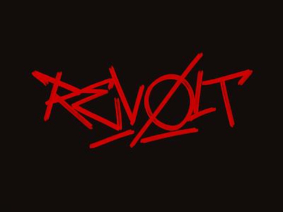 Revolt typography typografia script powerscripts litery liternictwo lettering kaligrafia handwritten handwriting freehand calligraphy