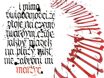 Dribbble Tattoo2 typography typografia script powerscripts litery liternictwo lettering kaligrafia handwritten handwriting freehand calligraphy