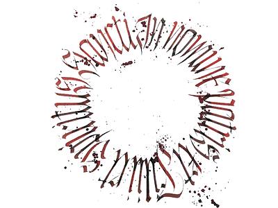 In Nomine typography typografia script powerscripts litery liternictwo lettering kaligrafia handwritten handwriting freehand calligraphy