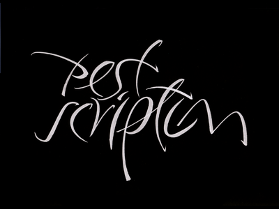 Pest Scriptum typography typografia script powerscripts litery liternictwo lettering kaligrafia handwritten handwriting freehand calligraphy