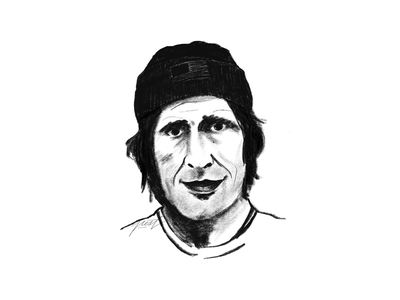 Rodney Mullen sketch drawing illustration portrait pencil monochrome digital painting sketching
