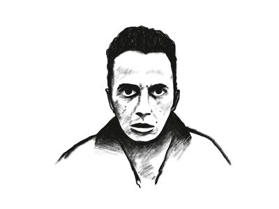 Joe Strummer sketching painting digital monochrome pencil portrait illustration drawing sketch powerscripts