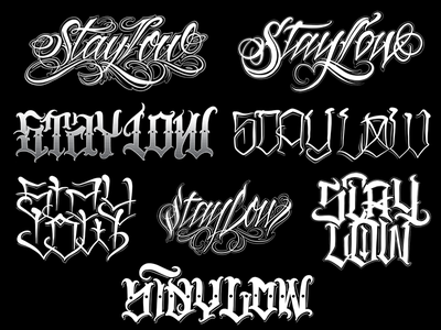 Stay Low Chicano Lettering powerscripts chicano script logotype logo lettering kaligrafia freehand calligraphy