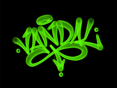 Vandal typography typografia script powerscripts logotype logo lettering kaligrafia handwritten handwriting freehand calligraphy