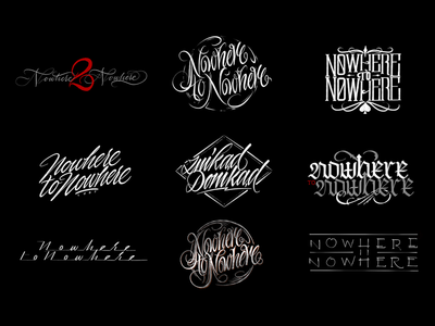 Nowhere to Nowhere typography lettering handwriting design logo kaligrafia calligraphy script freehand powerscripts