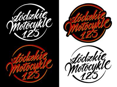 lodzkie motocykle 125 typografia kaligrafia litery liternictwo logotype handwriting handwritten logo powerscripts freehand typography lettering calligraphy script