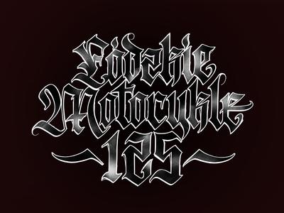lodzkie motocykle 125 #2 liternictwo litery typografia kaligrafia logotype logo handwritten handwriting typography lettering freehand calligraphy script powerscripts