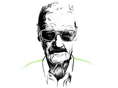 Stan Lee portret rysunek szkic stantheman excelsior pencil stanlee drawing portrait sketch illustration powerscripts