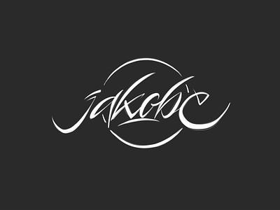 jakobe liternictwo litery typografia logotype logo handwritten handwriting typography lettering kaligrafia calligraphy script freehand powerscripts