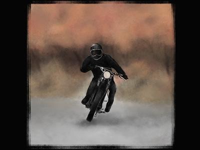 Autumn motorcycle ride sketching szkic rysunek scrambler moto art procreate digital art drawing sketch illustration powerscripts