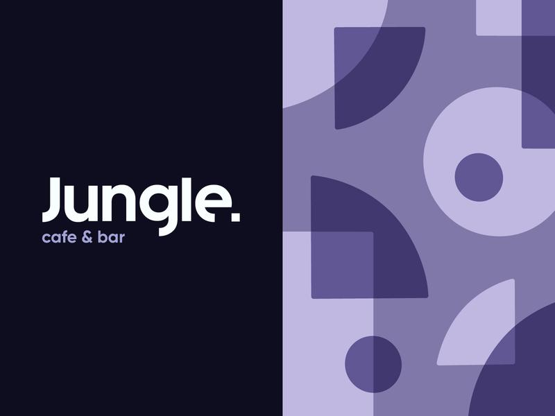 Jungle Cafe & Bar jungle design abstract vector pattern brand identity typography logotype logo branding illustration