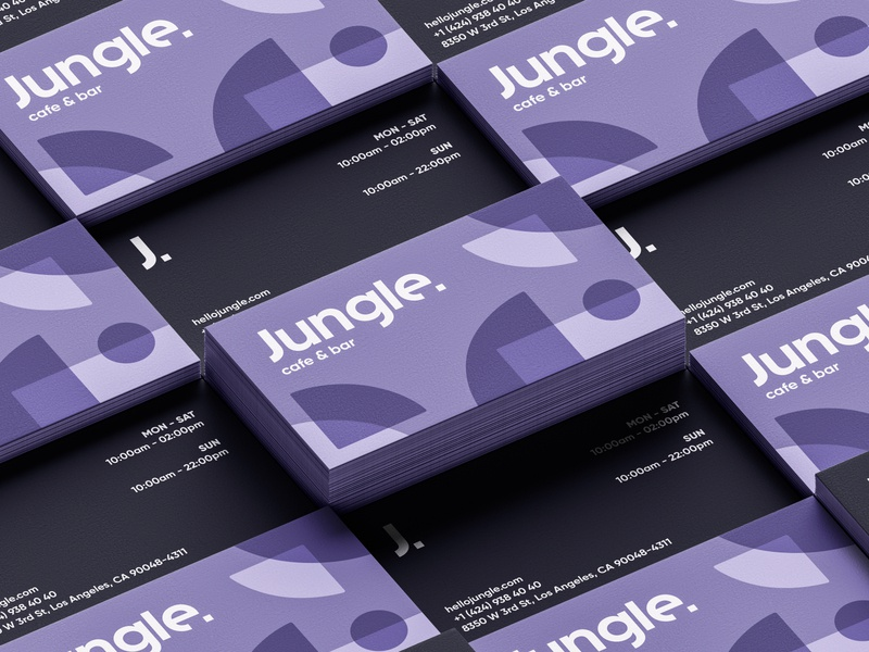 Jungle Cafe & Bar Business Card business card abstract jungle pattern typography logotype logo brand design branding brand identity