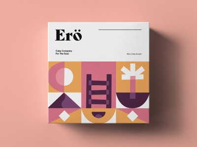 Ero Cake Co, Packaging typography design illustration vector kuwait abstract pattern box logo branding brand identity brand design packaging