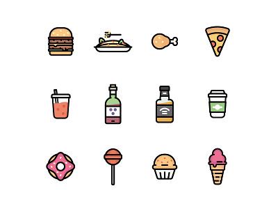 *Free* Food Icons food set line icons iconography icon free