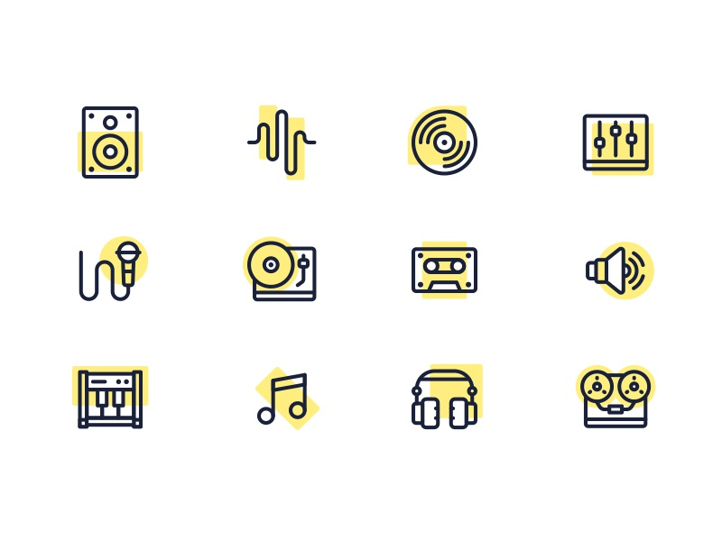 Music Icons music line icon set icons iconography