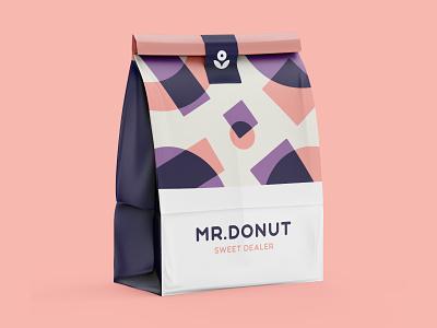 Mr. Donut Sweet Dealer donut illustraion branding logo type abstract logo design brand identity vector packaging pattern