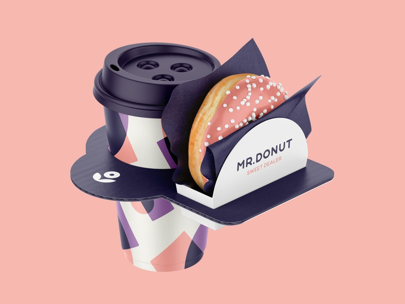Mr. Donut Sweet Dealer sweet type pattern logotype illustration packaging vector brand identity abstract logo branding donut