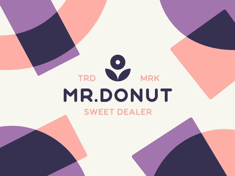 Mr. Donut Sweet Dealer pattern vector logo design brand identity abstract logotype logo branding illustration donut