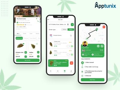 Development Process of an On-Demand Cannabis Delivery App mobile app designs cbd cbd business animation cannabis delivery mobile app uiux appdevelopmentcompanies design logo illustration appdevelopment