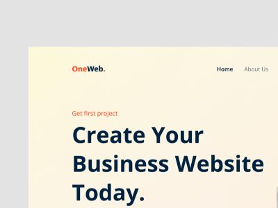 OneWeb Landing Page smooth simple popular tranding branding business ui landing page design