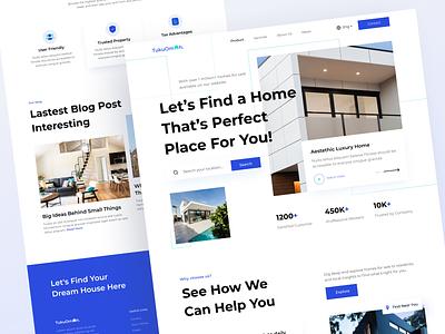 TukuOmah - Real Estate Home Page popular simple branding architecture unique real estate graphic design ui landing page design