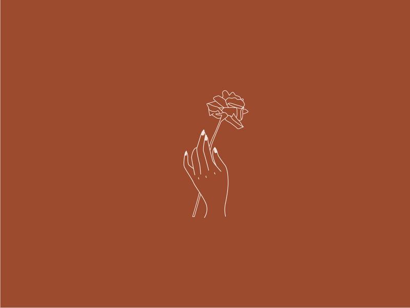 Florist Logo - Hand Illustration