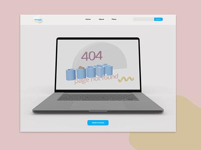 day #8 daily UI - 404 Page 3d art inception 404 error page landingpage 404 page minimal ux ui figma design dailyui app