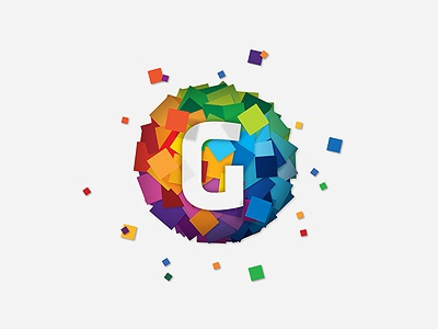 Gravity gravity logo app development symbol 2d 3d branding icon flat colour colorful