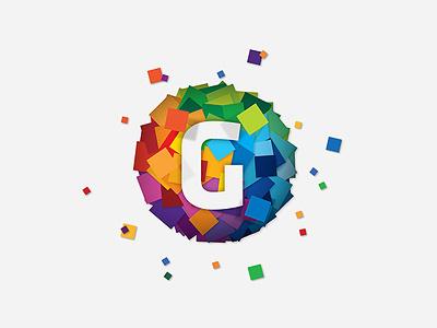 Gravity gravity logo app development symbol 2d 3d branding icon flat colour colorful