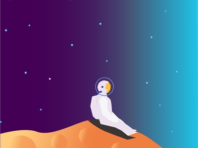 Spaceman Illustration - Somewhere digital illustration digital art stars astronaut artwork spaceman space illustration