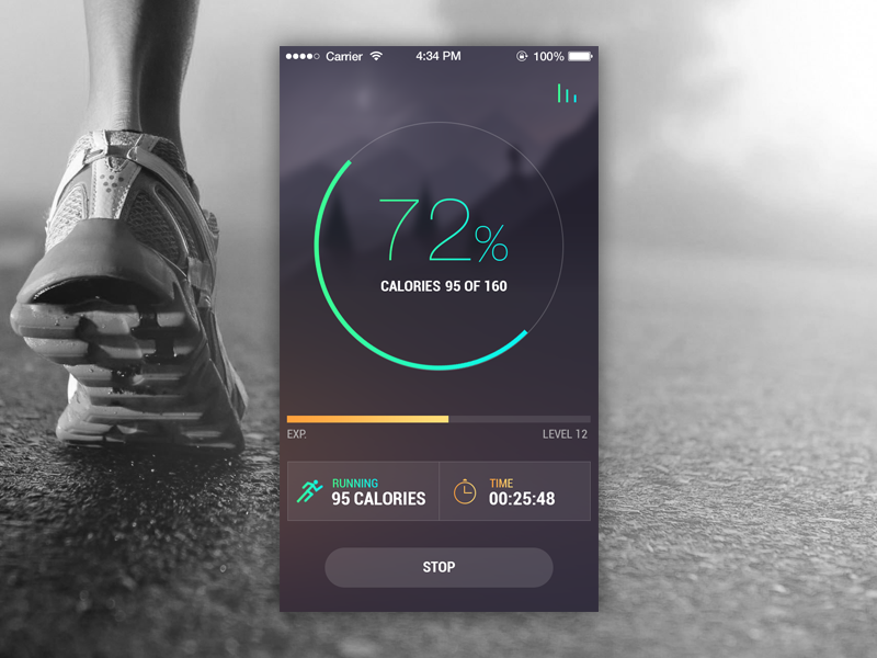 screenshot fitness mobile app by openxcell dribbble