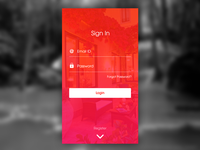 Mobile App - Sign In