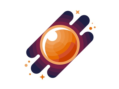 July Pluto space warm avatar logo icon vector pluto julypluto