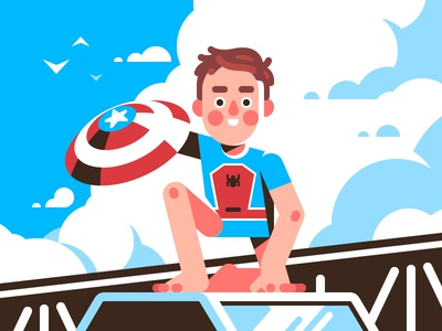 Underoos! | Spider-Man underoos spiderman vector illustration hero flat fanart disney marvel comics character spider-man