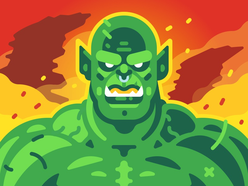 Warcraft Orc By July Pluto Dribbble Dribbble